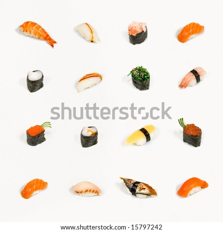Sushi menu - stock photo