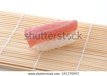 Sushi of Tuna isolated on white background