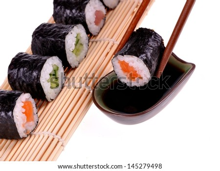 Sushi on bottom white studio