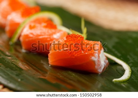 sushi on the leaf