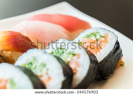 Sushi roll japanese food