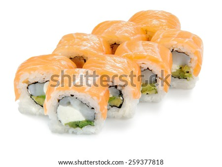 Sushi Roll with salmon and scallop