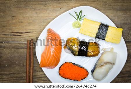 sushi rolls. - stock photo