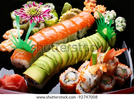 Sushi roll stock photos illustrations and vector art