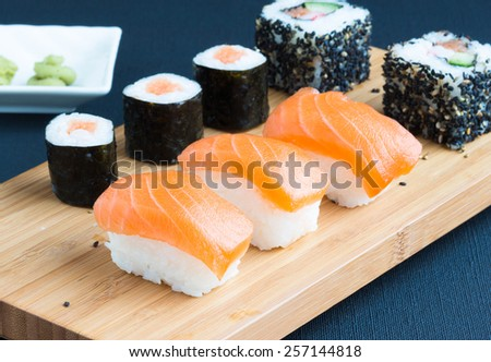 Sushi, selective focus - stock photo