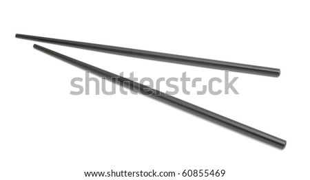 Sushi set (chopsticks) isolated on white background - stock photo