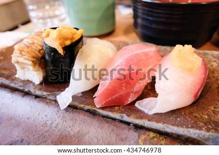 Sushi Set, Japanese Cuisine - stock photo