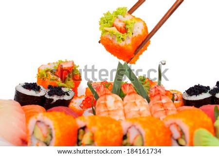 Sushi Set - Maki Sushi - stock photo