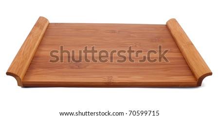 Sushi table isolated on white background - stock photo