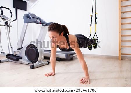 suspension arm training - stock photo