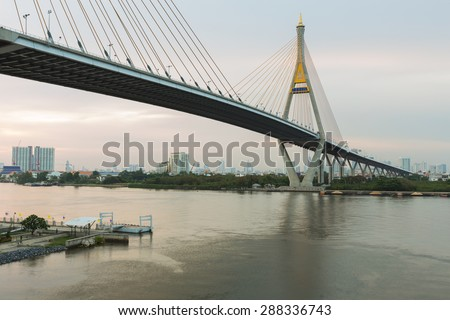 Suspension Bridge, Bangkok Thailand