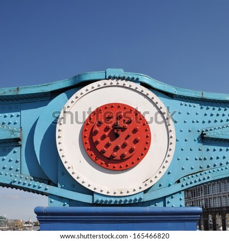 Suspension detail of Tower Bridge, over the River Thames in London, UK - stock photo