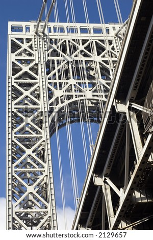 suspension tower of George Washington bridge