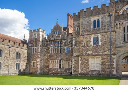 SUSSEX, UK - APRIL 11, 2015: Sevenoaks Old english mansion 15th century. Classic english countryside house