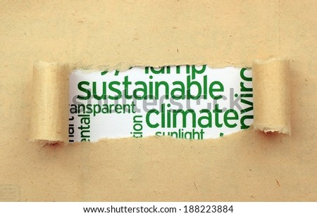 Sustainable climate concept - stock photo