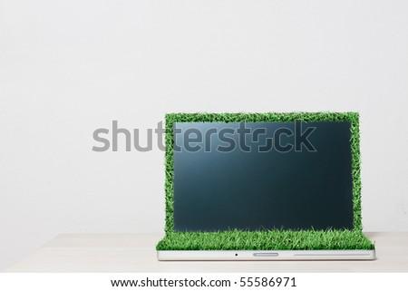 Sustainable computer - stock photo