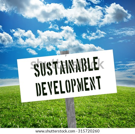 Sustainable development sign. Sustainability concept. - stock photo