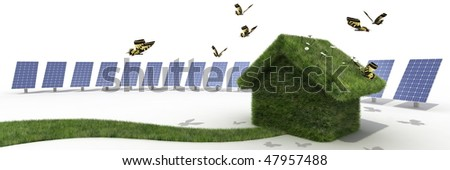 sustainable house - stock photo