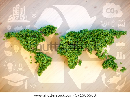 Sustainable world concept. 3D computer generated image. - stock photo