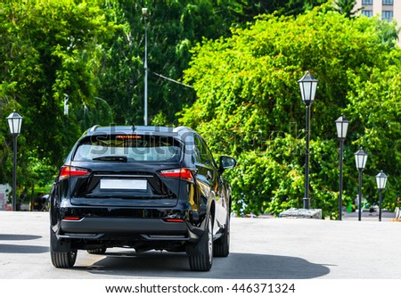 SUV car - stock photo