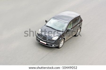 "SUV car shot  from top view  - See similar images of this ""Cars"" series in my portfolio - stock photo"