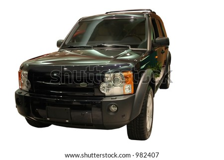 SUV isolated Over White - stock photo