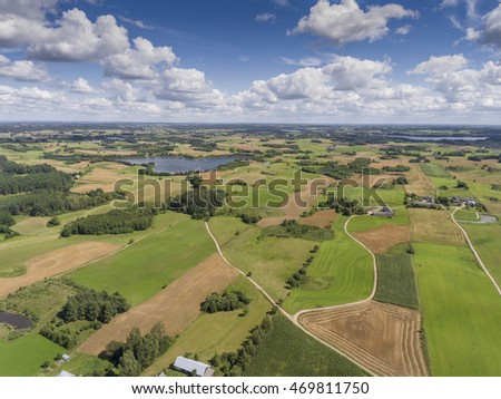 Suwalki Landscape Park, Poland. Summer time. View from above.