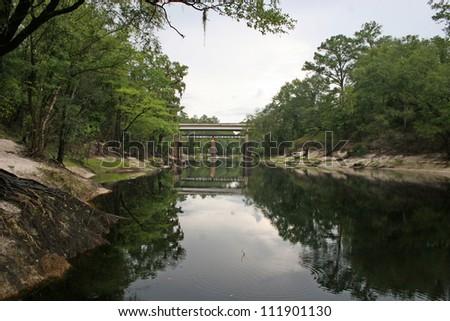 suwanee bridge - stock photo