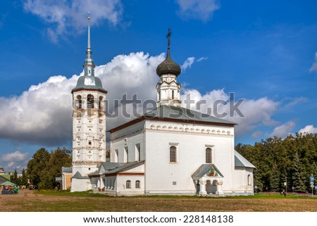 Suzdal. Golden Ring of Russia. Church of the Resurrection - stock photo