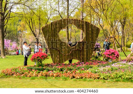 SUZHOU, CHINA - APR 1, 2016: The Humble Administrator's Garden,  a Chinese garden in Suzhou, a UNESCO World Heritage Site