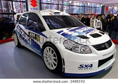 Suzuki SX4 WRC Rally Concept at Motorshow Bologna 2006 - stock photo