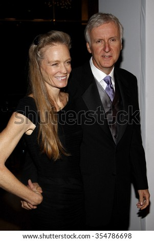 Suzy Amis Cameron and James Cameron at the 22nd Annual Producers Guild Awards held at the Beverly Hilton hotel in Beverly Hills, California, United States on January 22, 2010.   - stock photo