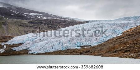 Svartisen glacier, Norway - stock photo