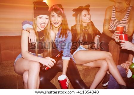 Swag girls - stock photo