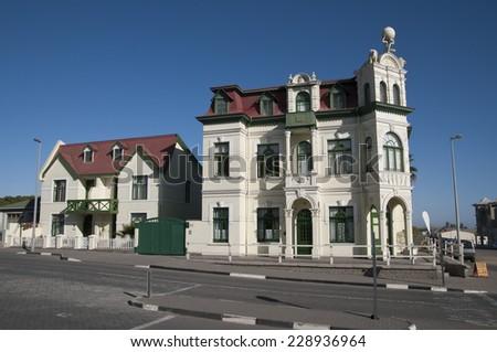 Swakopmund, Cityscape, Hohenzollern House, Namibia, Africa - stock photo