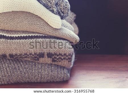 sweater closeup  - stock photo