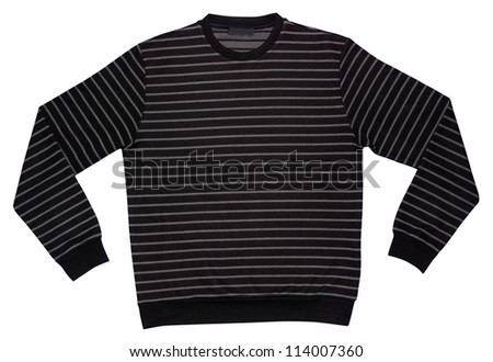 sweater isolated on white - stock photo