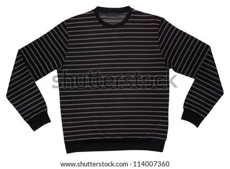 sweater isolated on white - stock photo