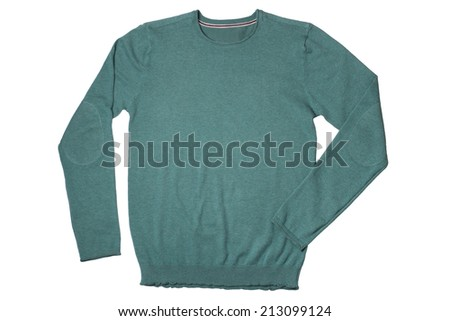 Sweater isolated on white background - stock photo