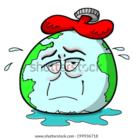 Sweating Planet Earth - stock photo