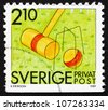 SWEDEN - CIRCA 1989: a stamp printed in the Sweden shows Croquet, Summer Sport, circa 1989 - stock photo