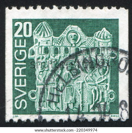 SWEDEN - CIRCA 1976: stamp printed by Sweden, shows Adoration of the Magi, circa 1976