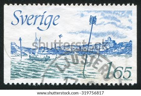 SWEDEN - CIRCA 1982: stamp printed by Sweden, shows International Buoyage System, circa 1982
