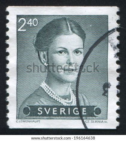 SWEDEN - CIRCA 1983: stamp printed by Sweden, shows Queen Silvia, circa 1983