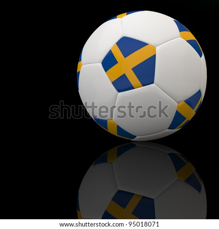 Sweden flag on 3d football for Euro 2012 Group D