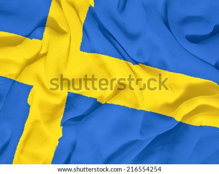 Sweden flag towel - stock photo