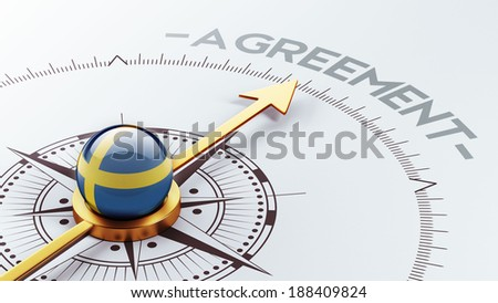 Sweden High Resolution Agreement Concept - stock photo