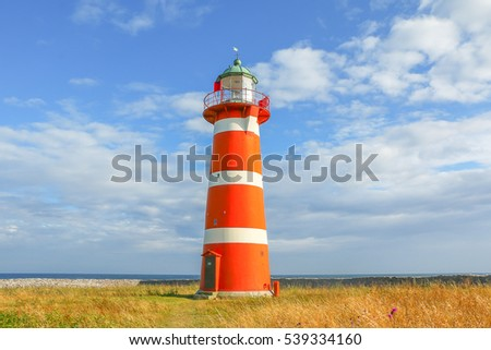 Sweden. Lighthouse on the island of Gotland.