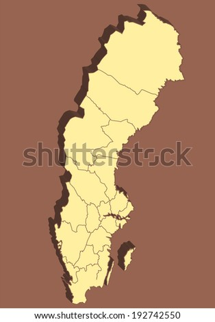 Sweden Map  - stock photo