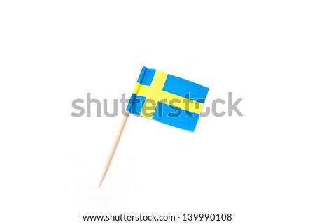 Swedish cake flag isolated - stock photo